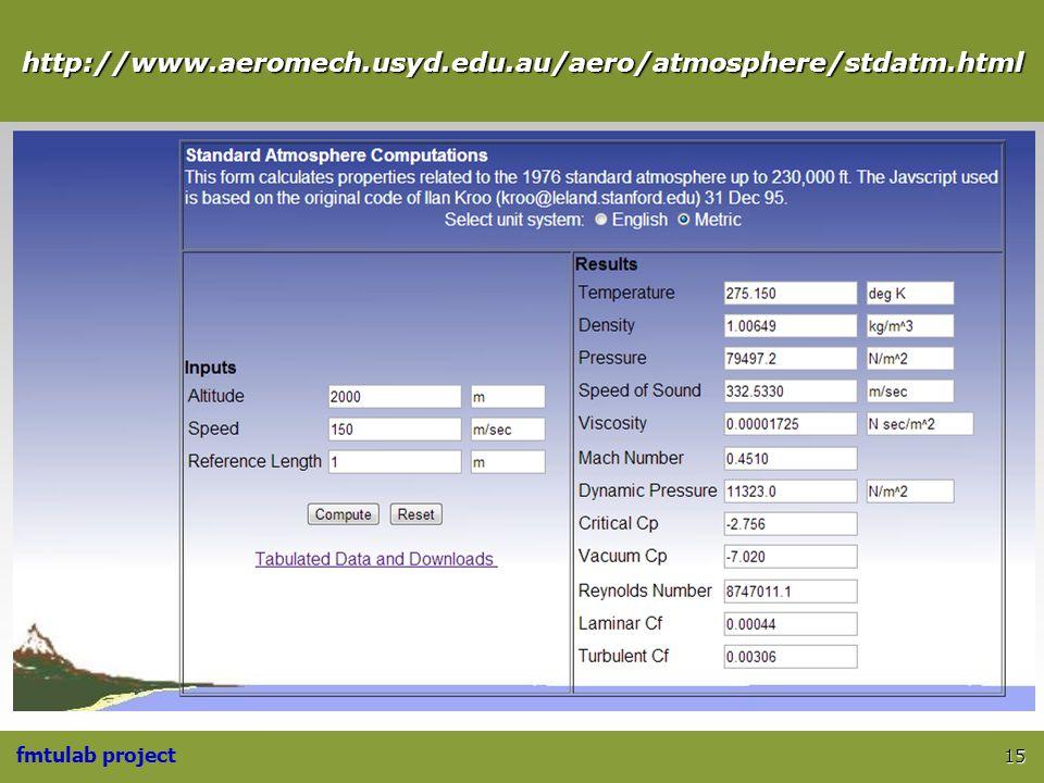 fmtulab project http://www.aeromech.usyd.edu.au/aero/atmosphere/stdatm.html 15