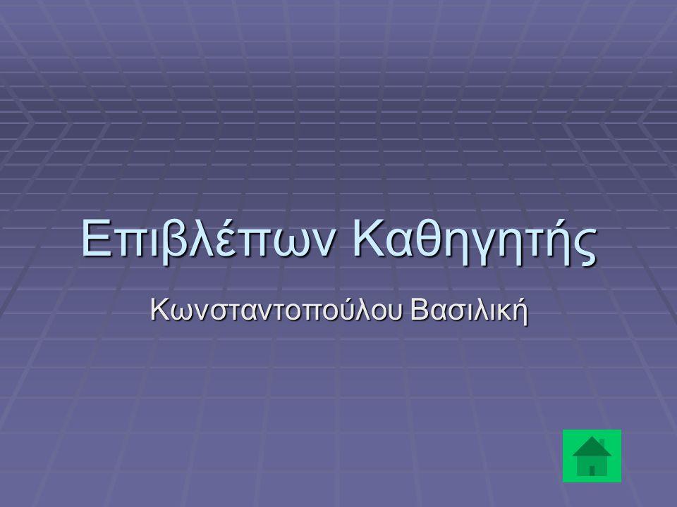 Επιβλέπων Καθηγητής Κωνσταντοπούλου Βασιλική