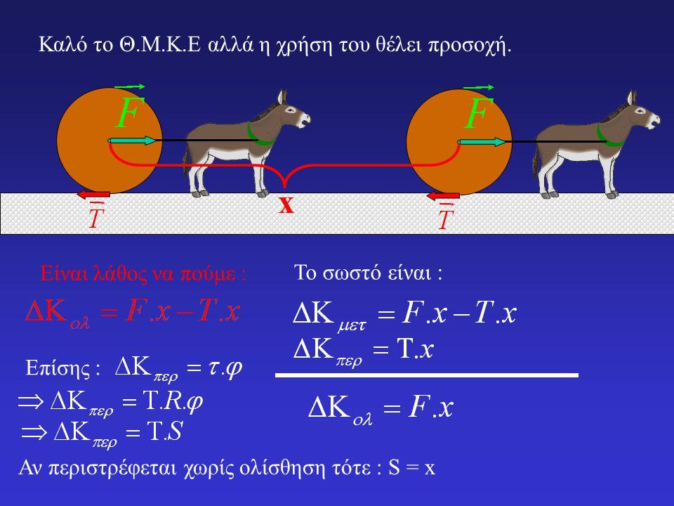 Τα παραπάνω θυμίζουν το θεώρημα μεταβολής της κινητικής ενέργειας για την μεταφορική κίνηση: Και οι δύο εκφράσεις ισχύουν και στην περίπτωση που οι ροπές (ή οι δυνάμεις) δεν είναι σταθερές.