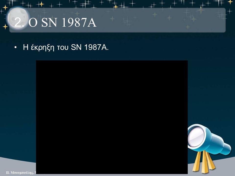 2. Ο SN 1987A Η έκρηξη του SN 1987A.