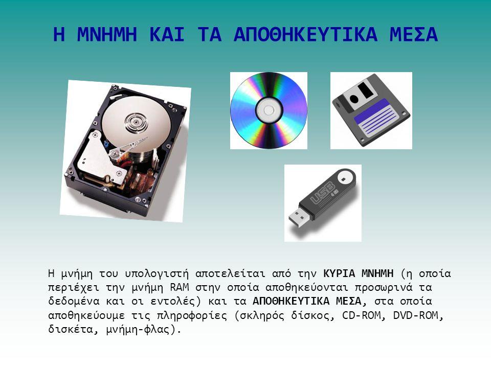ΤΟ ΛΟΓΙΣΜΙΚΟ (SOFTWARE) TOY Η/Υ ΛΟΓΙΣΜΙΚΟ ΕΦΑΡΜΟΓΩΝ Το ΛΟΓΙΣΤΙΚΟ ΕΦΑΡΜΟΓΩΝ αποτελείται από διάφορα προγράμματα που λειτουργεί ο χρήστης. Τα προγράμματ