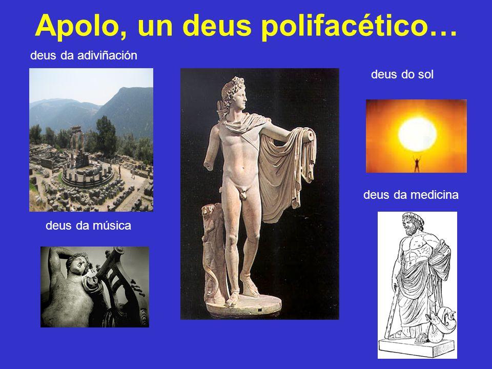 Apolo, un deus polifacético… deus da adiviñación deus do sol deus da música deus da medicina