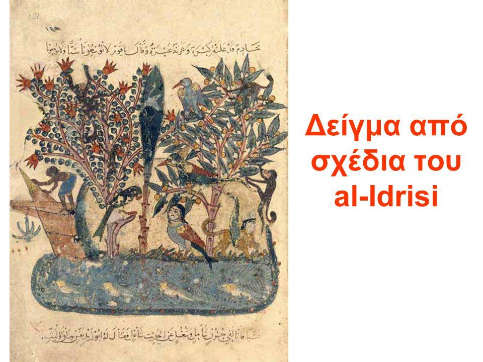 Δείγμα από σχέδια του al-Idrisi