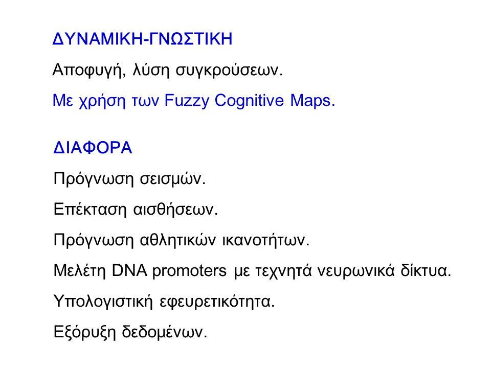 ΔΥΝΑΜΙΚΗ-ΓΝΩΣΤΙΚΗ Αποφυγή, λύση συγκρούσεων.Με χρήση των Fuzzy Cognitive Maps.