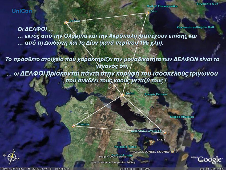 Ακρόπολη και Ολυμπία ισαπέχουν – κατά περίπου 121 χλμ, από τους ΔΕΛΦΟΥΣ !