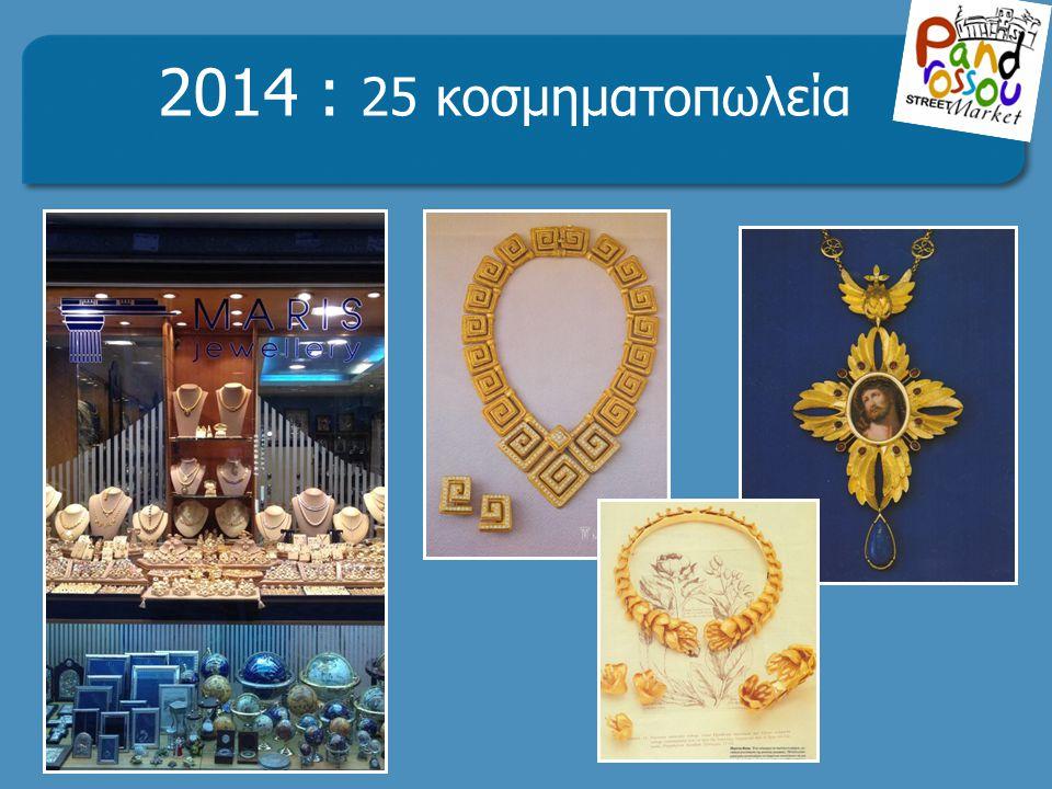 . 2014 : 25 κοσμηματοπωλεία