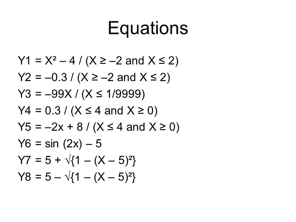 Ex. 4a Window: Xmin = 0 Xmax = 15 Xscl = 1 Ymin = –1 Ymax = 7 Yscl = 1