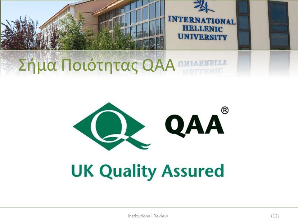 Σήμα Ποιότητας QAA Institutional Review(12)