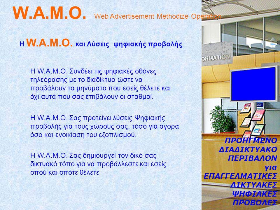 W.A.M.O.Web Advertisement Methodize Operation Η W.A.M.O.