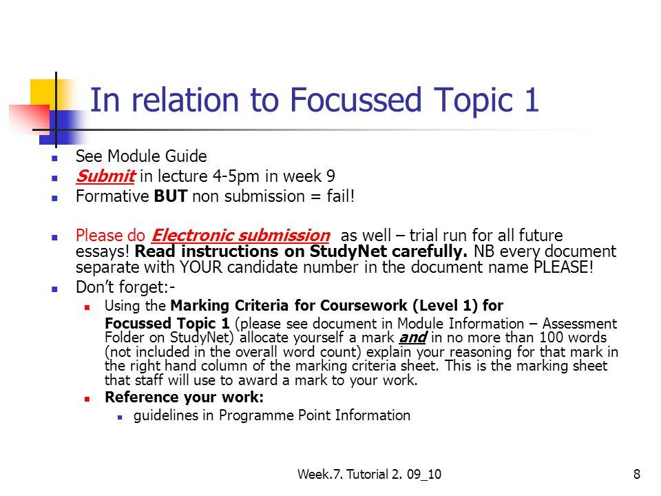 Week.7. Tutorial 2. 25 _ 11 19 Για να ανακεφαλαιώσουμε
