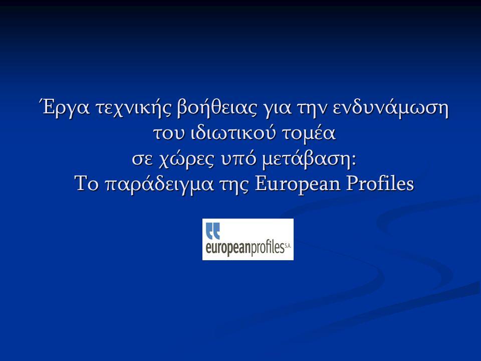 Έργα τεχνικής βοήθειας για την ενδυνάμωση του ιδιωτικού τομέα σε χώρες υπό μετάβαση: Το παράδειγμα της European Profiles