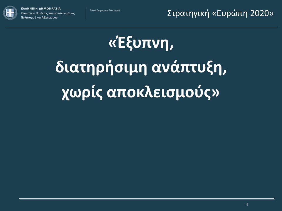 Υποστήριξη της Σύγχρονης Ελληνικής Δημιουργίας Υποστήριξη καθιερωμένων και νέων θεσμών, ώστε να συνεχίσουν να αποτελούν πόλους έλξης επισκεπτών Διεύρυνση και εμπλουτισμός δραστηριοτήτων με νέες μορφές καλλιτεχνικής έκφρασης Διεύρυνση ποσοτική και ποιοτική του κοινού Υποστήριξη διεθνών συνεργασιών Προώθηση συνεργιών και συμπληρωματικών δράσεων με άλλους φορείς 15
