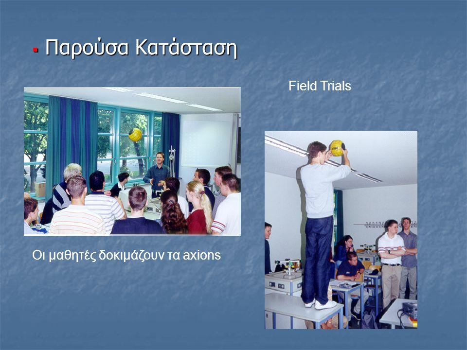 Field Trials Οι μαθητές δοκιμάζουν τα axions  Παρούσα Κατάσταση