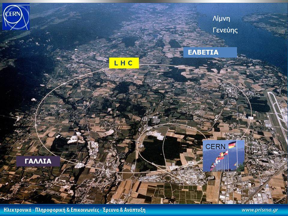Λίμνη Γενεύης L H C ΓΑΛΛΙΑ ΕΛΒΕΤΙΑ CERN