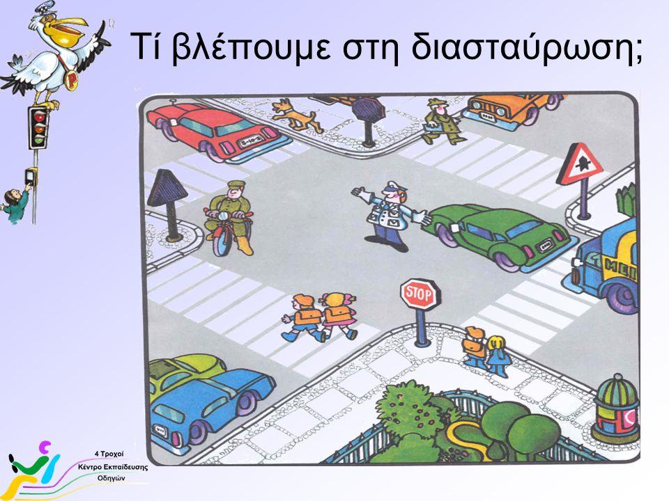 Τί «αντικείμενα» είδαμε στη διασταύρωση; Δρόμος Φωτεινός σηματοδότη ς Διάβαση Πεζών Πινακίδα σήμανσης Φωτεινός σηματοδότης πεζών