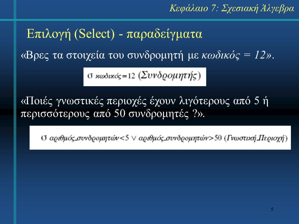 5 «Βρες τα στοιχεία του συνδρομητή με κωδικός = 12».