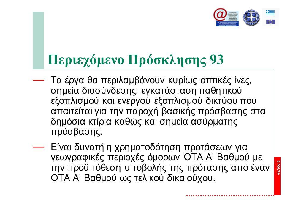 σελίδα 19 Βασικό έργο του «Συμβούλου Τεχνικής Υποστήριξης» μιας Περιφέρειας είναι: — Η σύνταξη αναλυτικής μελέτης εφαρμογής και διόδευσης των οπτικών ινών — Η προσαρμογή των τευχών δημοπράτησης με βάση τα πορίσματα της αναλυτικής μελέτης — Η παρακολούθηση, επίβλεψη και πιστοποίηση της ορθής εκτέλεσης — Η εκπόνηση και υποβολή προς έγκριση στην ΕΥΔΕΠ ΚτΠ του Επιχειρηματικού Σχεδίου εκμετάλλευσης - αξιοποίησης των υποδομών