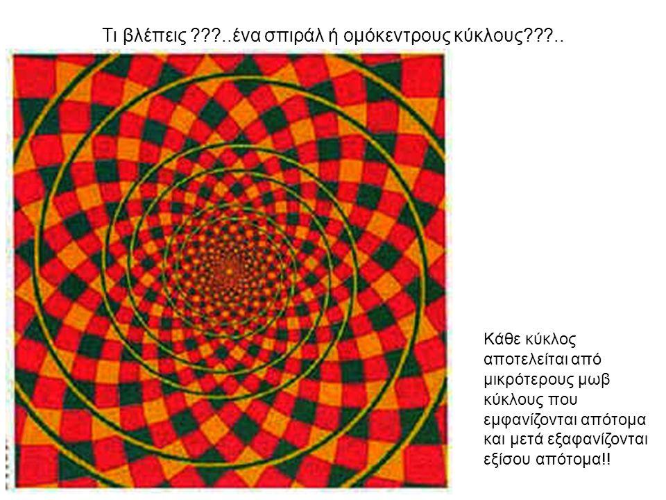 Συγκεντρώσου για λίγο στο κέντρο και θα παρατηρήσεις ότι οι μωβ κύκλοι, έχουν τελικά πράσινο χρώμα!!!!.