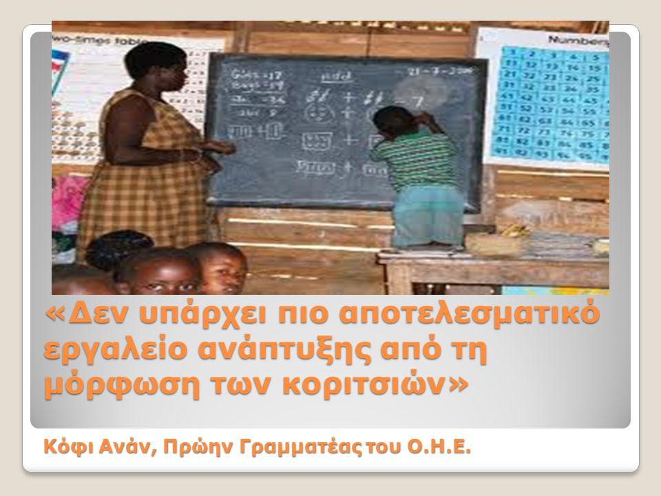 Εκπαίδευση για όλα τα κορίτσια και τις γυναίκες του κόσμου τώρα!
