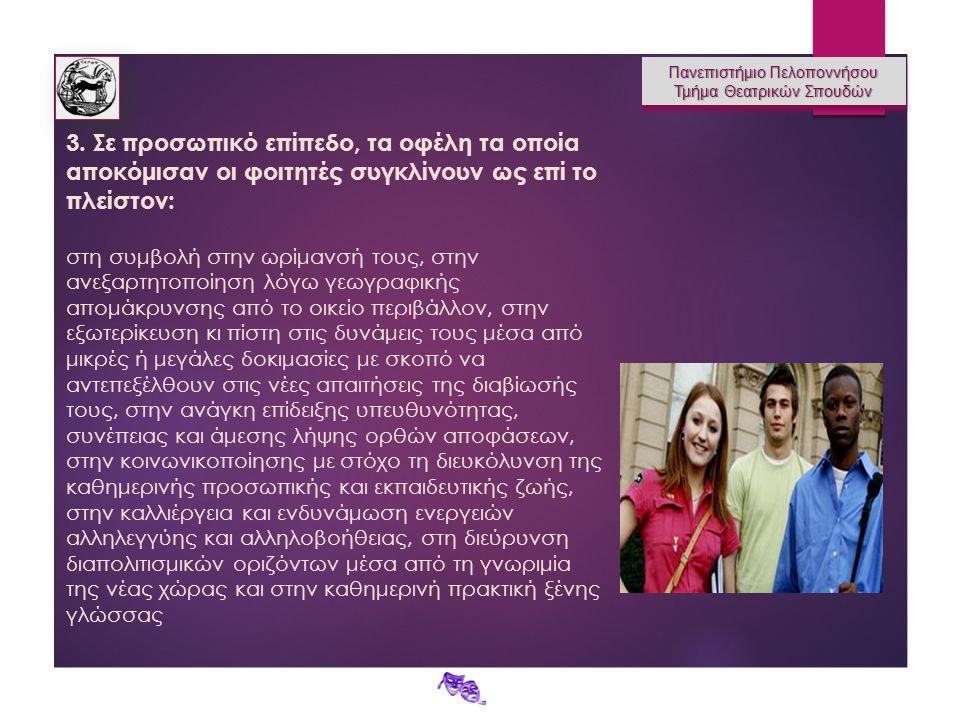 Πανεπιστήμιο Πελοποννήσου Τμήμα Θεατρικών Σπουδών Πανεπιστήμιο Πελοποννήσου Τμήμα Θεατρικών Σπουδών 3.
