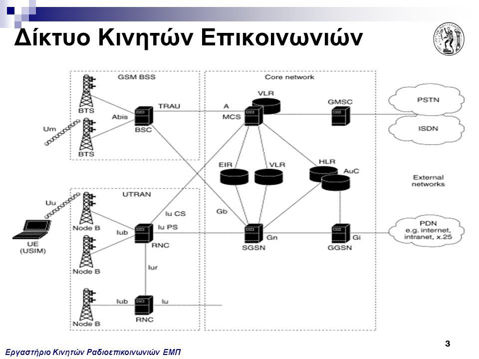 Εργαστήριο Κινητών Ραδιοεπικοινωνιών ΕΜΠ 3 Δίκτυο Κινητών Επικοινωνιών