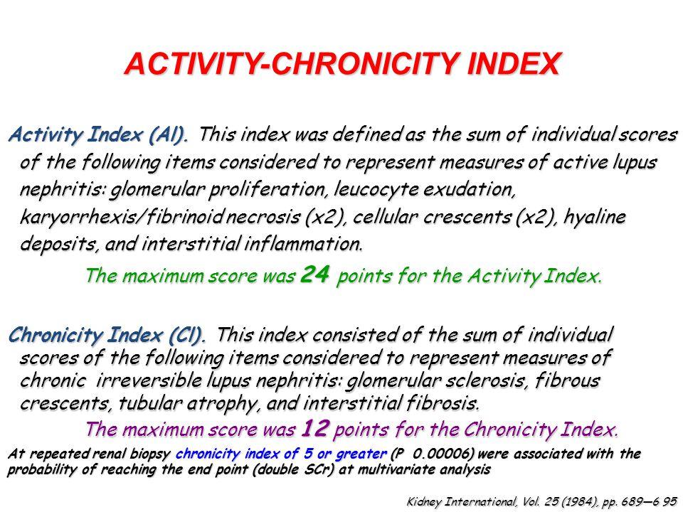 ACTIVITY-CHRONICITY INDEX Activity Index (Al).