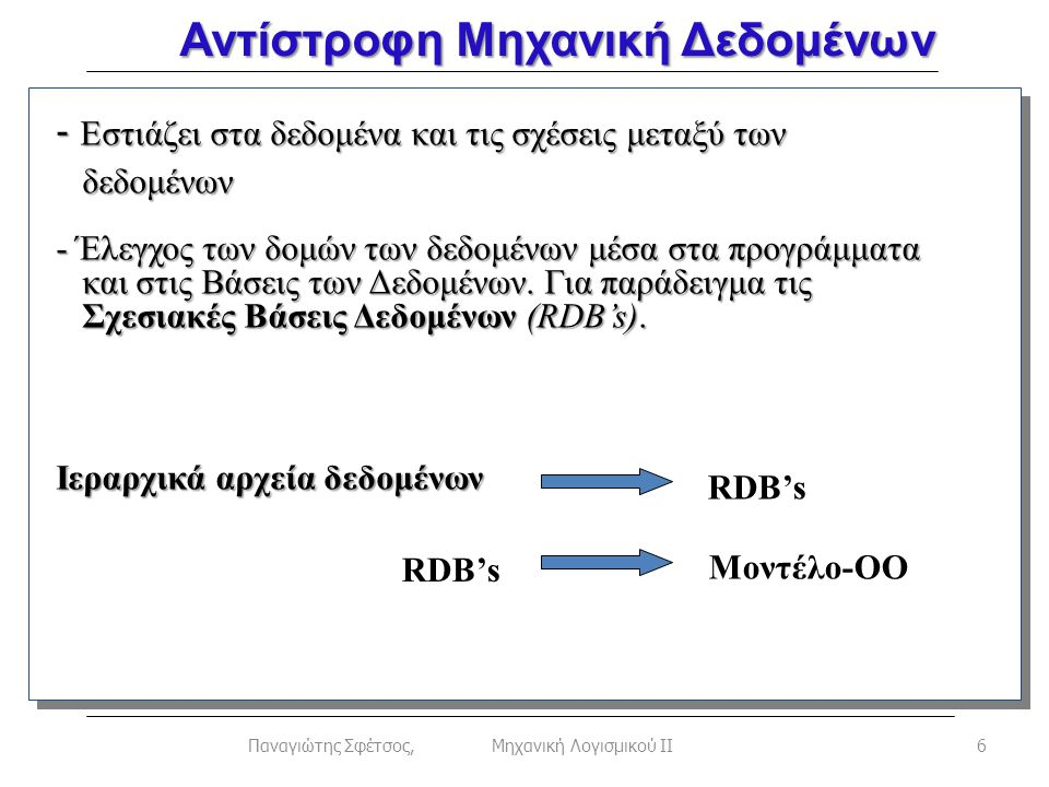 17Παναγιώτης Σφέτσος, Μηχανική Λογισμικού ΙΙ Γενίκευση – Κληρονομικότητα (2/3) public String getPayType() { String pType; if (payType==0) pType= Salary ; else pType= ByHour ; return pType; } abstract String getEmpType(); abstract void calcSalary(); } class Administrator extends Employee { Administrator(String s, int b, int h, int p) {super(s,b,h,p);} public String getEmpType() {return Administrator ;} public void calcSalary() { int s=0; if (payType==0) s=1200+b; else s=(h*12); System.out.println( Sarary = + s); }}