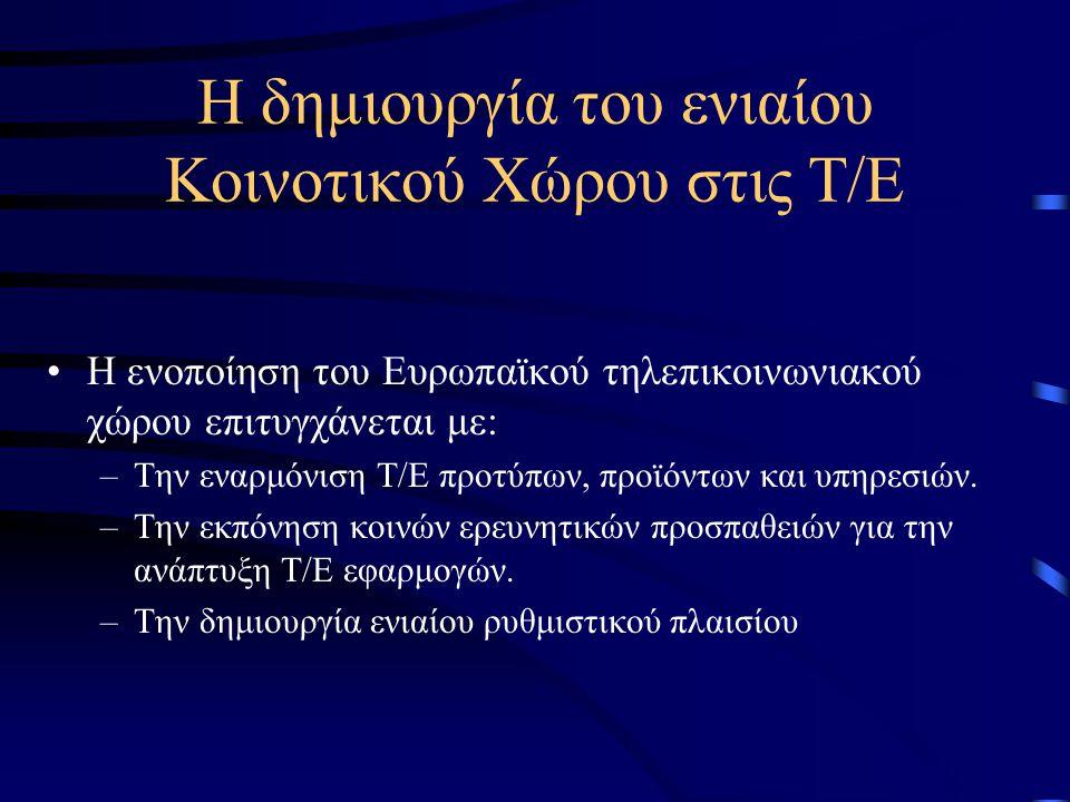 Η αντίδραση της Ευρώπης Εκείνη την εποχή (1982-85) μπαίνουν οι βάσεις για την ενιαία εσωτερική αγορά Ελεύθερη διακίνηση ανθρώπων - κεφαλαίων - εμπορευμάτων.