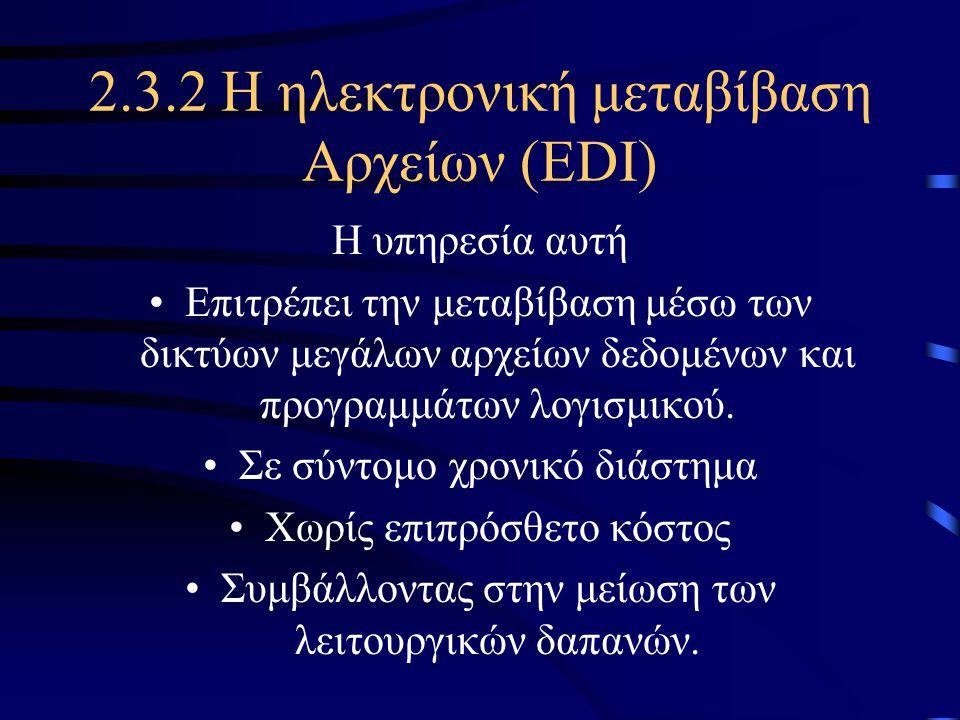 2.3.1 Το Ηλεκτρονικό Ταχυδρομείο (e-Mail).