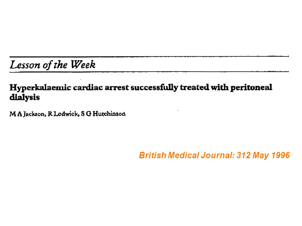 British Medical Journal: 312 May 1996