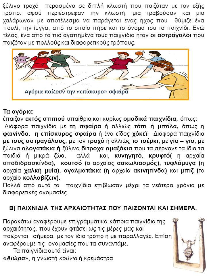 «Ακινητίνδα», Παραλλαγή του παιγνιδιού στρατιωτάκια ακούνητα, αμίλητα, αγέλαστα και τα αγαλματάκια.