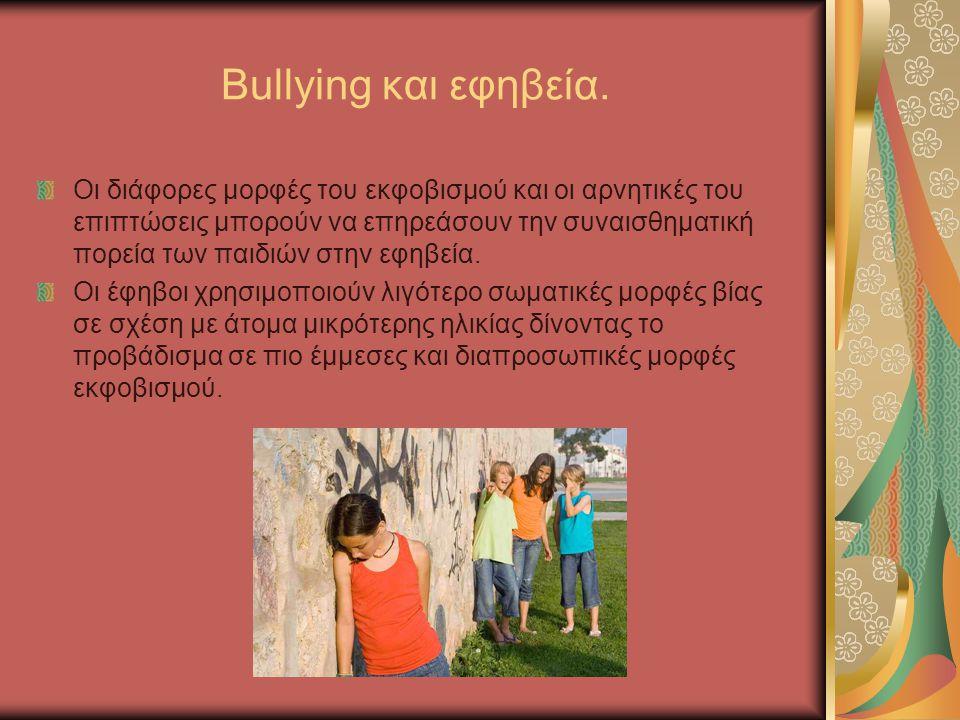 Bullying και εφηβεία. Οι διάφορες μορφές του εκφοβισμού και οι αρνητικές του επιπτώσεις μπορούν να επηρεάσουν την συναισθηματική πορεία των παιδιών στ