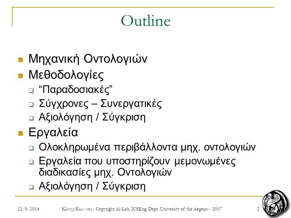 322/8/2014 Κώτης Κων/νος - Copyright Ai-Lab, ICSEng.