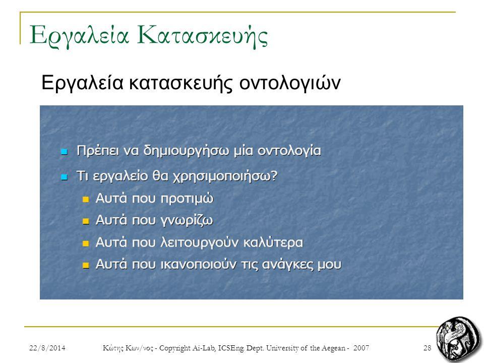 2822/8/2014 Κώτης Κων/νος - Copyright Ai-Lab, ICSEng.
