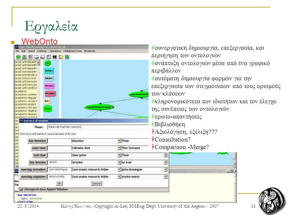 3122/8/2014 Κώτης Κων/νος - Copyright Ai-Lab, ICSEng.