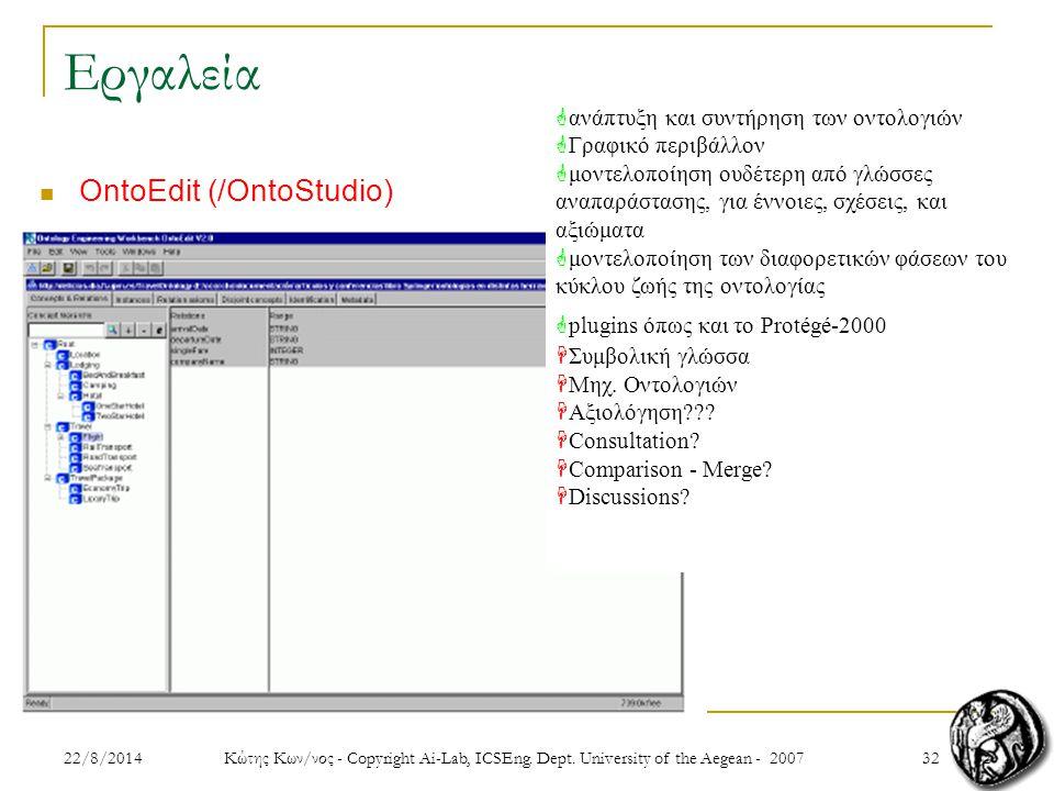 3222/8/2014 Κώτης Κων/νος - Copyright Ai-Lab, ICSEng.