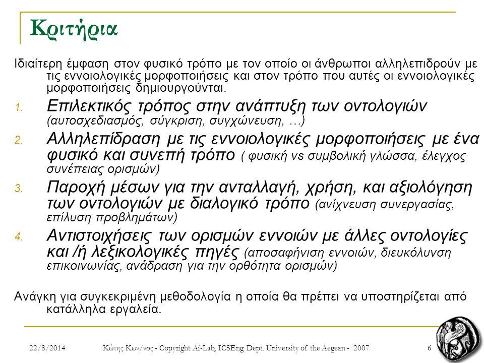 2722/8/2014 Κώτης Κων/νος - Copyright Ai-Lab, ICSEng.