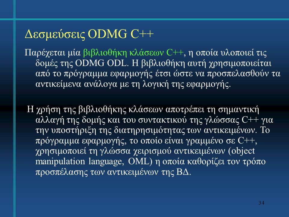 35 Δεσμεύσεις ODMG C++