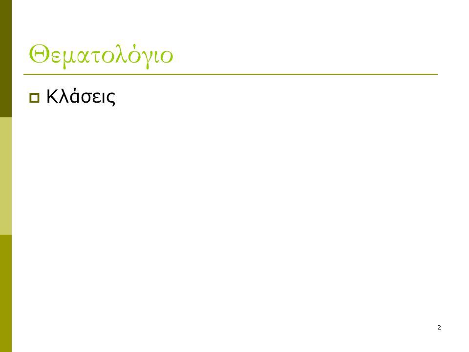 3 Παράδειγμα κλάσης  Stack: μια δομή αποθήκευσης δεδομένων με τρόπο σειριακό.