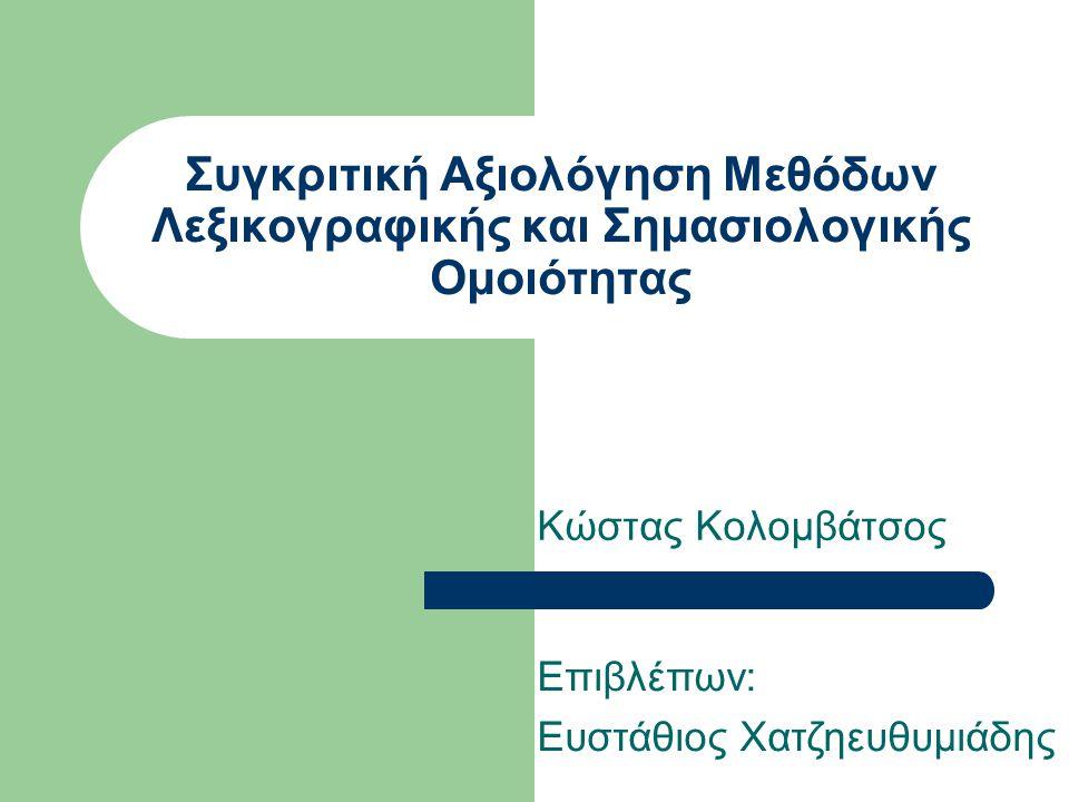 ΚΑΤΗΓΟΡΙΕΣ Ontology Based: Χρήση Οντολογιών (π.χ.