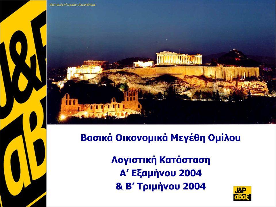 Βασικά Οικονομικά Μεγέθη Ομίλου Λογιστική Κατάσταση Α' Εξαμήνου 2004 & Β' Τριμήνου 2004 Φωτισμός Μνημείων Ακροπόλεως