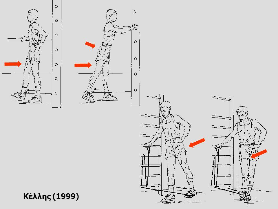 Ασκήσεις δύναμης με βοηθητικά όργανα Λάστιχα   Πρόσθιοι μηριαίοι   Οπίσθιοι μηριαίοι   Προσαγωγοί   Απαγωγοί Ιατρικές μπάλες   Θέση ημικαθίσματος   Πάσα στήθους   Ρίψη με δύο χέρια πάνω από το κεφάλι