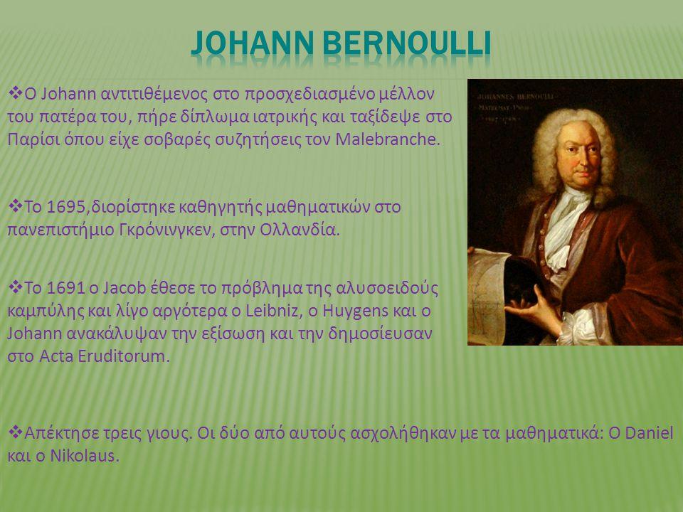  To 1695,διορίστηκε καθηγητής μαθηματικών στο πανεπιστήμιο Γκρόνινγκεν, στην Ολλανδία.