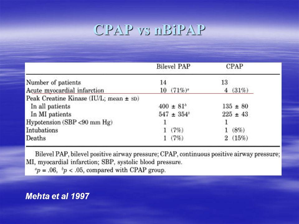 CPAP vs nBiPAP Mehta et al 1997
