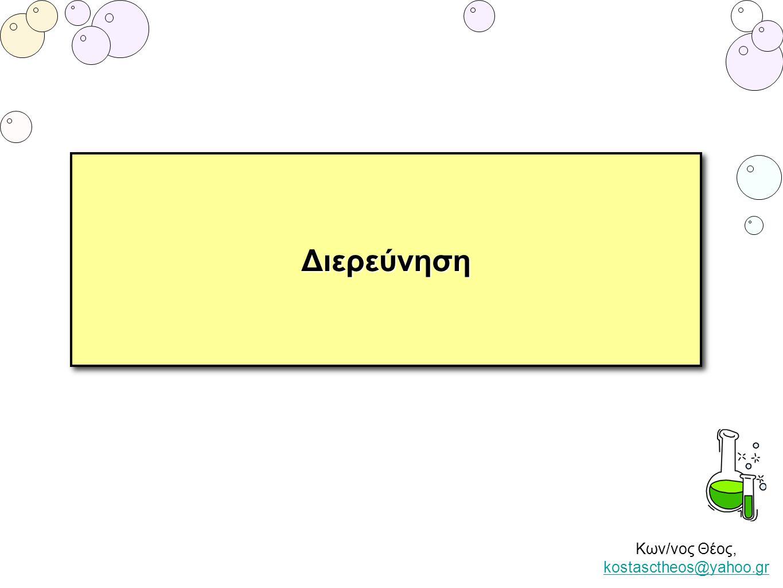 Κων/νος Θέος, kostasctheos@yahoo.gr kostasctheos@yahoo.grΔιερεύνησηΔιερεύνηση
