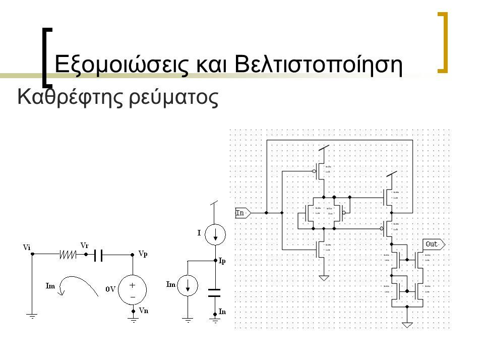 Εξομοιώσεις και Βελτιστοποίηση Καθρέφτης ρεύματος