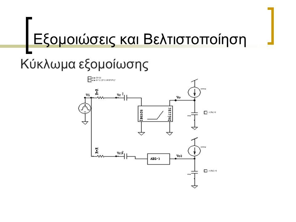 Εξομοιώσεις και Βελτιστοποίηση Κύκλωμα εξομοίωσης