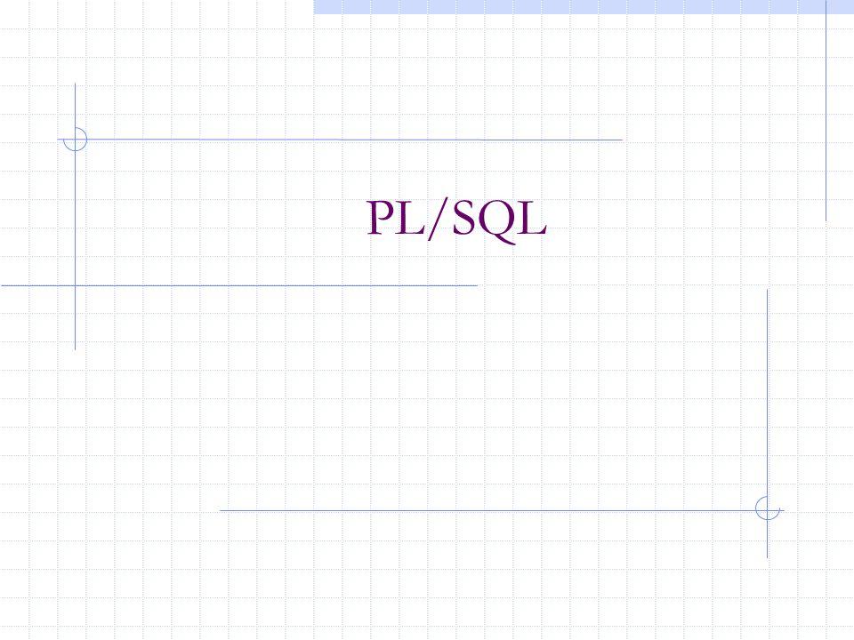 Διαδικασίες (παράδειγμα) CREATE PROCEDURE addtuple2( x T.a%TYPE, y T.b%TYPE) AS BEGIN INSERT INTO T VALUES(x, y); END addtuple2;.