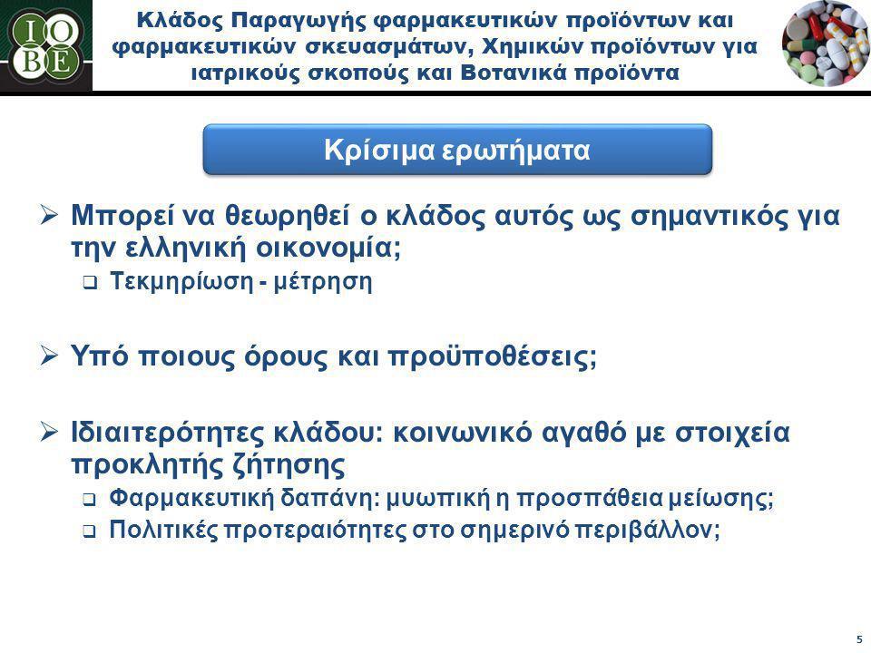 Ο κλάδος Παραγωγής Φαρμακευτικών Προϊόντων συμβάλλει σημαντικά στην Ακαθάριστη Προστιθέμενη Αξία της εγχώριας Μεταποίησης Ακαθάριστη Προστιθέμενη Αξία του κλάδου Παραγωγής Φαρμακευτικών Προϊόντων & Σκευασμάτων στην Ελλάδα, 2000-2010  Ο κλάδος καταγράφει αξιοσημείωτη δυναμική τόσο σε σχέση με άλλους μεταποιητικούς κλάδους στην εγχώρια παραγωγή, όσο και με αντίστοιχους κλάδους σε ευρωπαϊκό επίπεδο