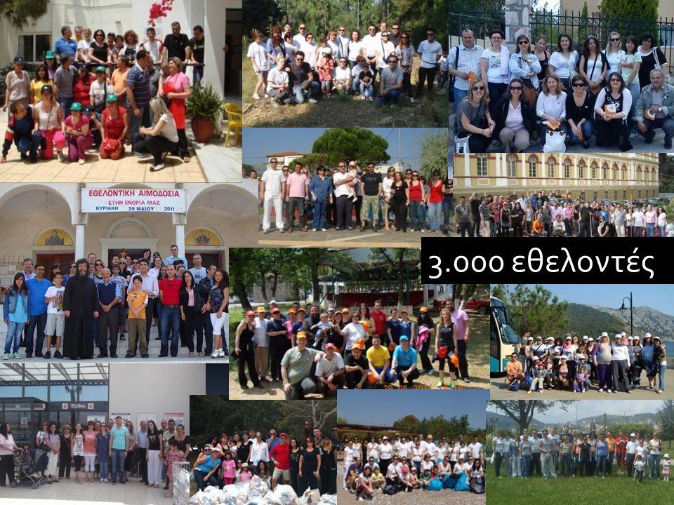 3.000 εθελοντές